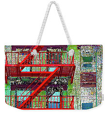 Weekender Tote Bag featuring the mixed media Fire by Tony Rubino