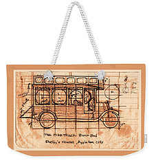 Weekender Tote Bag featuring the photograph Fire Truck Bunk Bed by Larry Campbell