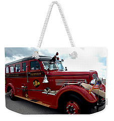 Fire Truck Selfridge Michigan Weekender Tote Bag