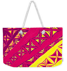 Weekender Tote Bag featuring the drawing Fire Velvet Lace by Kim Sy Ok