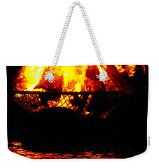 Fire Water Illuminates The Night Weekender Tote Bag