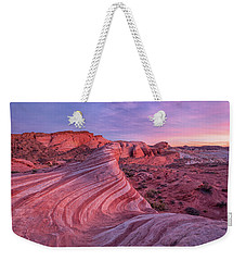 Weekender Tote Bag featuring the photograph Fire Wave Evening Light by Patricia Davidson