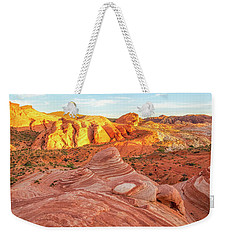Fire Wave In Vertical Weekender Tote Bag