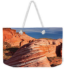 Weekender Tote Bag featuring the photograph Fire Wave by Tammy Espino