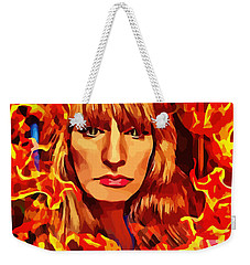 Fire Woman Abstract Fantasy Art Weekender Tote Bag