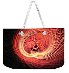 Weekender Tote Bag featuring the photograph Fireball by Cathy Donohoue
