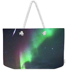 Fireball In The Aurora Weekender Tote Bag by Alex Conu