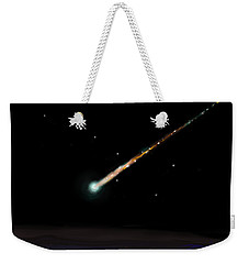 Weekender Tote Bag featuring the painting Fireball by Jean Pacheco Ravinski
