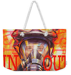 Weekender Tote Bag featuring the painting Firefighter by Steve Henderson