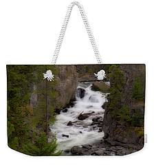 Weekender Tote Bag featuring the photograph Firehole Canyon by Steve Stuller