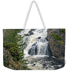 Firehole Falls Weekender Tote Bag by Cindy Murphy - NightVisions