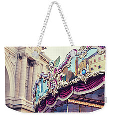 Weekender Tote Bag featuring the photograph Firenze Carousel by Melanie Alexandra Price