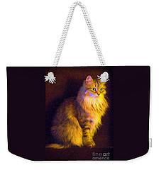 Fireside Feline Weekender Tote Bag