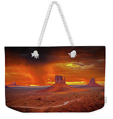 Firestorm Over The Valley Weekender Tote Bag by Mark Dunton