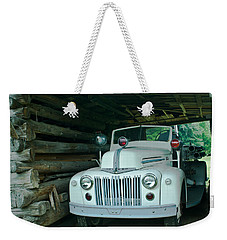 Firetruck In A Barn Weekender Tote Bag