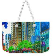 Firetruck In Chicago Weekender Tote Bag