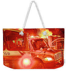 Firetrucks From Playas De Tijuana Weekender Tote Bag by Hugh Smith