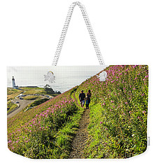 Weekender Tote Bag featuring the photograph Fireweed Seascape by Nick Boren