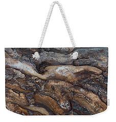 Firewood Abstract Weekender Tote Bag