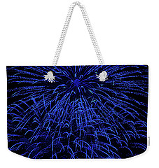 Firework Blues Weekender Tote Bag