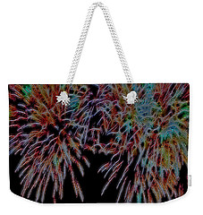 Fireworks Abstract Weekender Tote Bag by Cathy Anderson