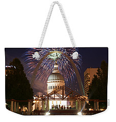 Fireworks At The Arch 1 Weekender Tote Bag by Marty Koch