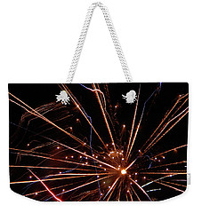 Weekender Tote Bag featuring the photograph Fireworks Blast #0703 by Barbara Tristan