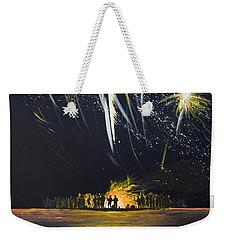 Fireworks Bonfire On The West Bar Weekender Tote Bag