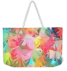Fireworks Floral Abstract Square Weekender Tote Bag by Edward Fielding