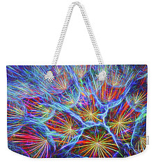 Fireworks In Nature Weekender Tote Bag by Clare VanderVeen
