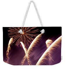 Fireworks In The Night Weekender Tote Bag