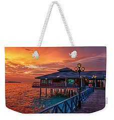 Fireworks Of Colors. Maldives Weekender Tote Bag