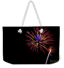 Weekender Tote Bag featuring the photograph Fireworks by Suzanne Luft
