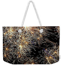 Weekender Tote Bag featuring the photograph Fireworks by Suzanne Stout