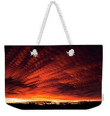 Fiery Sky 7 Weekender Tote Bag