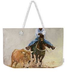 First Bulldogger Bill Picket Oil Painting By Kmcelwaine  Weekender Tote Bag
