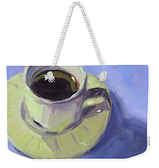 Weekender Tote Bag featuring the painting First Cup by Nancy Merkle