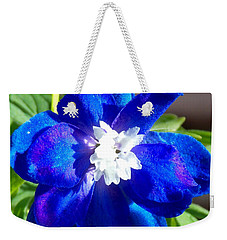 First Delphinium Agape Gardens Weekender Tote Bag