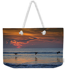Weekender Tote Bag featuring the photograph First Flight First Light by Steven Sparks