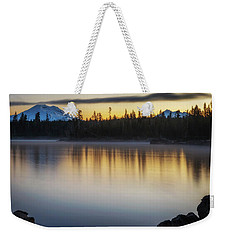 Weekender Tote Bag featuring the photograph First Light At Lava Lake by Cat Connor