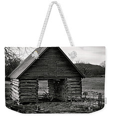 First Light At The Barn In Black And White Weekender Tote Bag