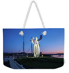 First Light At The Waterfront Weekender Tote Bag
