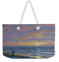 First Light - Golden Mile Weekender Tote Bag by Kathleen McDermott