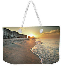 Weekender Tote Bag featuring the photograph First Light On Orange Beach by Greg Mimbs