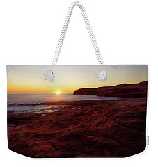 First Light On Red Sandstone Beach Weekender Tote Bag