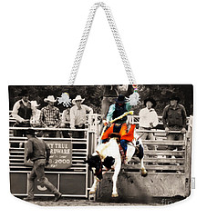 First Out Of The Chute Weekender Tote Bag