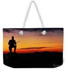First Pennsylvania Cavalry Sunrise Gettysburg Weekender Tote Bag by Randy Steele