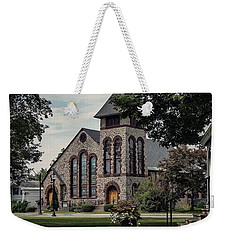 Weekender Tote Bag featuring the photograph First Presbyterian Church by Kendall McKernon