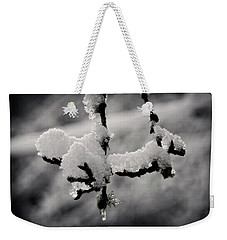 Weekender Tote Bag featuring the photograph First Snow - 365-283 by Inge Riis McDonald