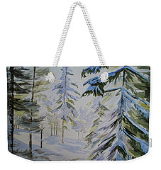 First Snow And Sunshine Weekender Tote Bag